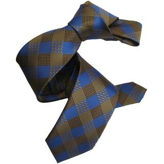 Dmitry Men's Light Brown Patterned Italian Silk Tie