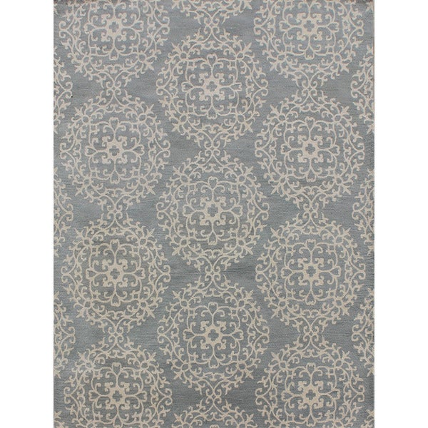ABC Accents Morris Medallion Procelian Blue Wool Rug
