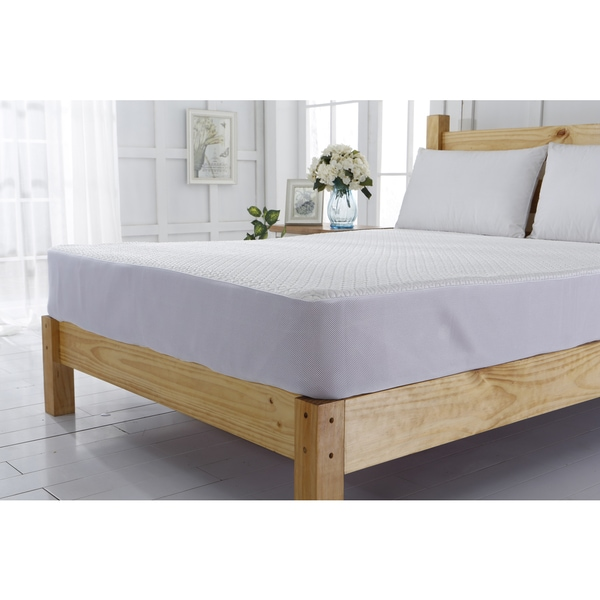 Cooling Jacquard White Mattress Cover/ Protector
