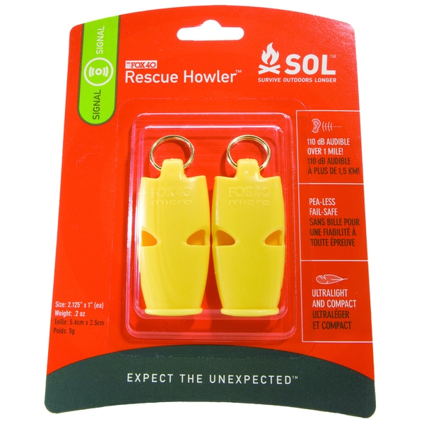 Adventure Medical SOL Series Rescue Howler Whistle