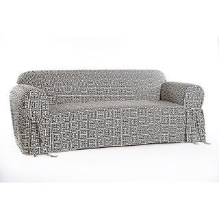 Geo Print Cotton 1-piece Sofa Slipcover