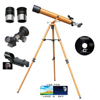 Wood Grain 800mm x 60mm Refractor Telescope