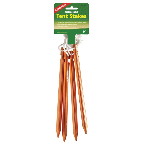 Coghlans Ultralight Aluminum Tent Stakes (Pack of 4)