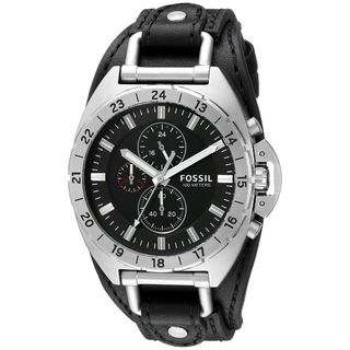 Fossil Men's CH3003 'Breaker' Chronograph Black Leather Watch