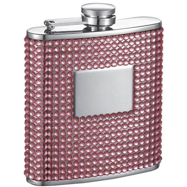 Visol Rosie Pink Bling Liquor Flask - 6 ounces
