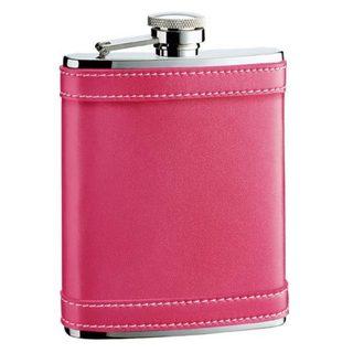 Visol Alexis Hot Pink Leather Liquor Flask - 6 ounces 16296543