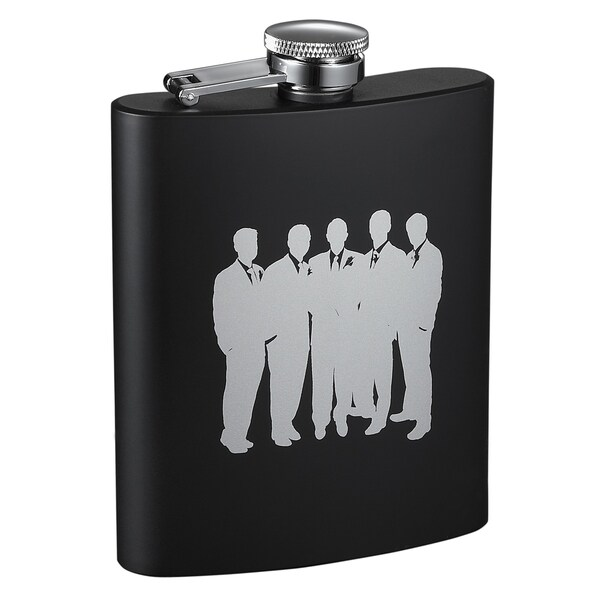 Visol Raven Entourage Black Matte Flask - 8 ounces