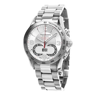 Swiss Army Men's 241704 'Chrono Classic' Silver Dial Stainless Steel Swiss Quartz Watch