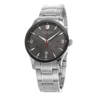 Swiss Army Men's 241714.1 'Alliance' Grey Dial Stainless Steel Swiss Automatic Watch