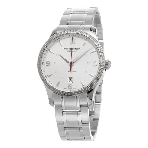 Swiss Army Men's 241715.1 'Alliance' Silver Dial Stainless Steel Swiss Automatic Watch 16296587