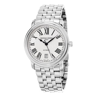 Frederique Constant Men's FC-303M4P6B2 'Classics' Silver Dial Stainless Steel Swiss Automatic Watch