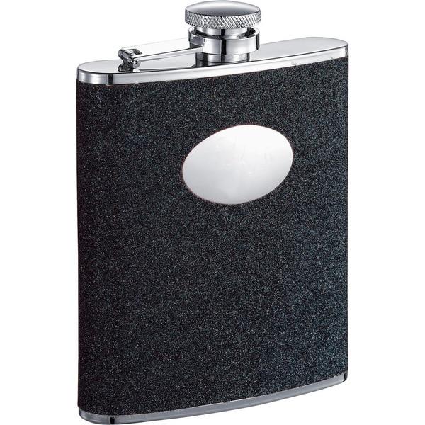 Visol Stardust Black Glitter Liquor Flask - 6 ounces 16296694