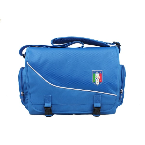 FIGC Italia Blue Travelers 15-inch Messenger Bag