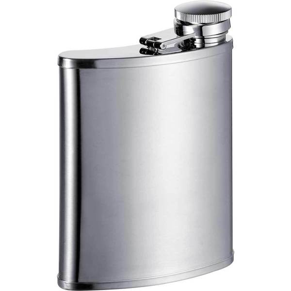 Visol Bass Wide Mouth Satin Liquor Flask - 7 ounces