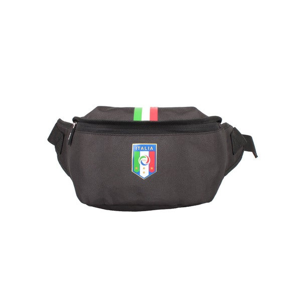FIGC Italia Black Waist Bag