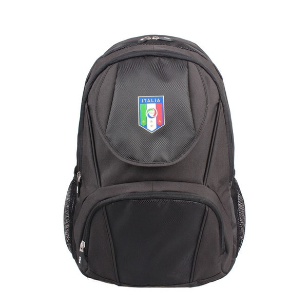 FIGC Italia Black 13-inch Backpack