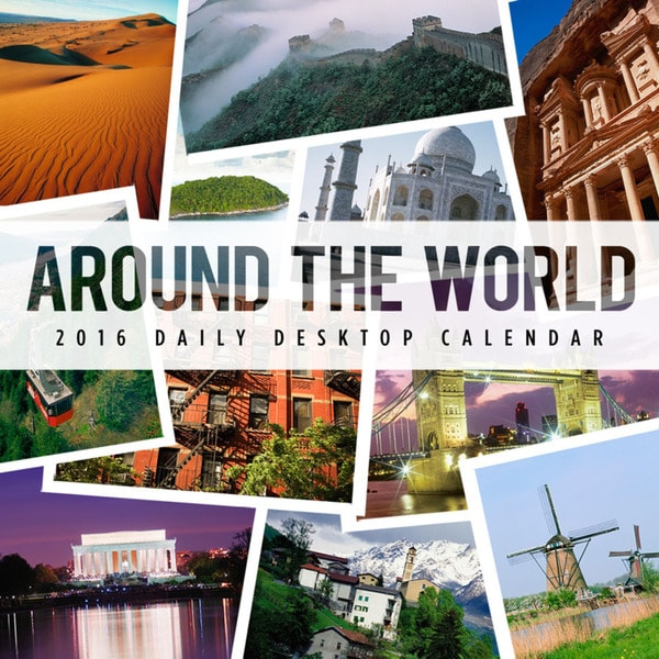 2016 Around the World Daily Desktop Calendar