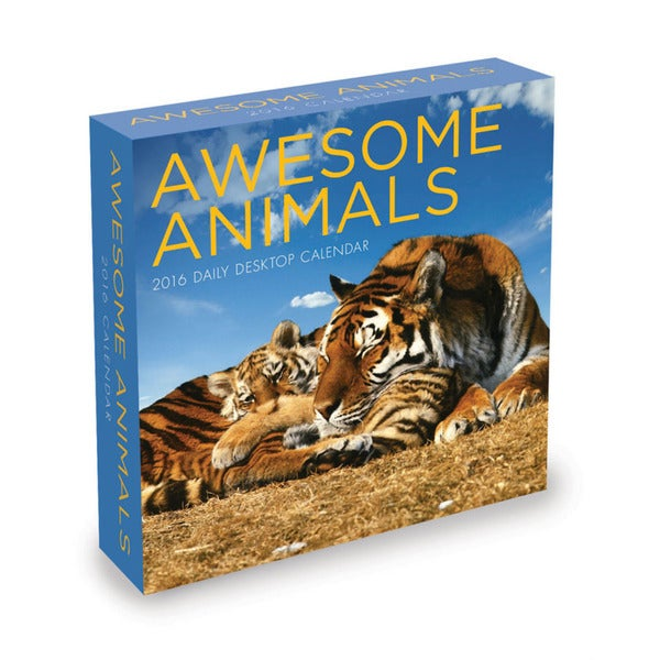 2016 Awesome Animals Daily Desktop Calendar