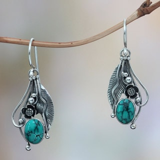 Sterling Silver 'Blue Beauty' Turquoise Earrings (Indonesia)