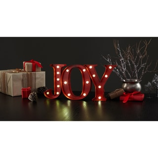 Apothecary & Company 9-inch Metal JOY LED Marquee Sign