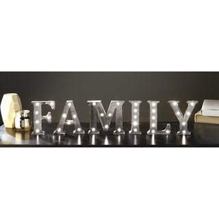 Apothecary & Company 4.5 inch Metal LED FAMILY Marquee Sign