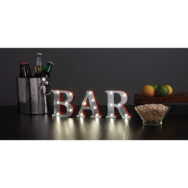 Order Home Collection 4.5 inch Metal LED BAR Marquee Sign
