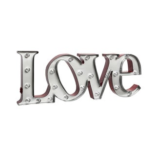 Order Home Collection 7.5 inch Metal LED LOVE Marquee Sign