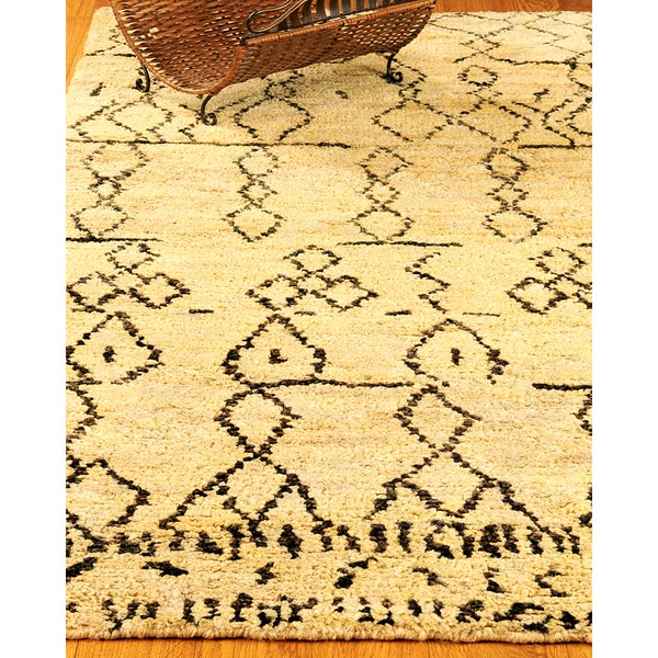 Natural Area Rugs Hand Knotted Moonwalk Jute Rug (8' x 10')