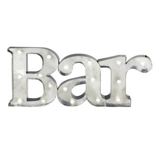 Apothecary & Company 9 inch Metal LED BAR Marquee Sign
