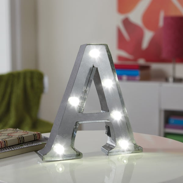 Apothecary & Company Decorative 8 inch LED Letter A Marquee Sign