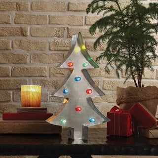 """Apothecary & Company 13.5"""" LED Marquee Sign - Christmas Tree"""