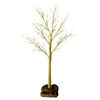 Order Home Collection 4ft Champagne Glitter Tree with Burlap Sack and Twine