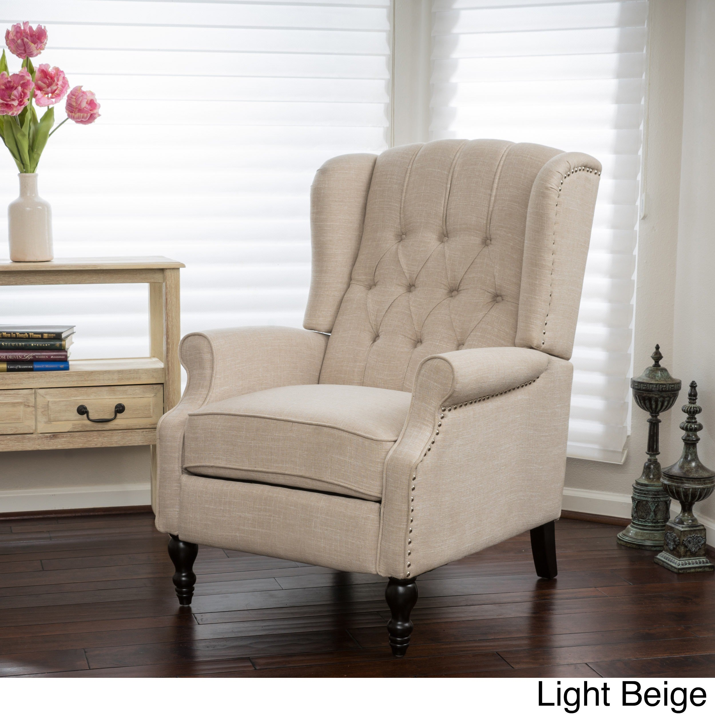 High Quality Walter Fabric Recliner Club Chair By Christopher Knight