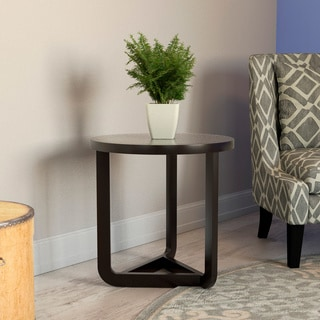 Furniture of America Daxon Modern Cappuccino Round End Table