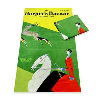 Harper's Bazaar 'New York Fashions' Beach Towels - 40-inch x 70-inch