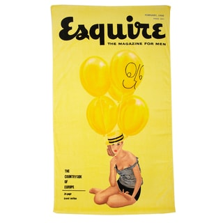 "Esquire 'February 1956' Yellow Beach Towel (40"" x 70"")"