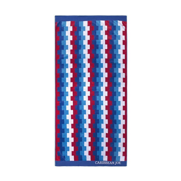 Caribbean Joe Square Stripe Beach Towels