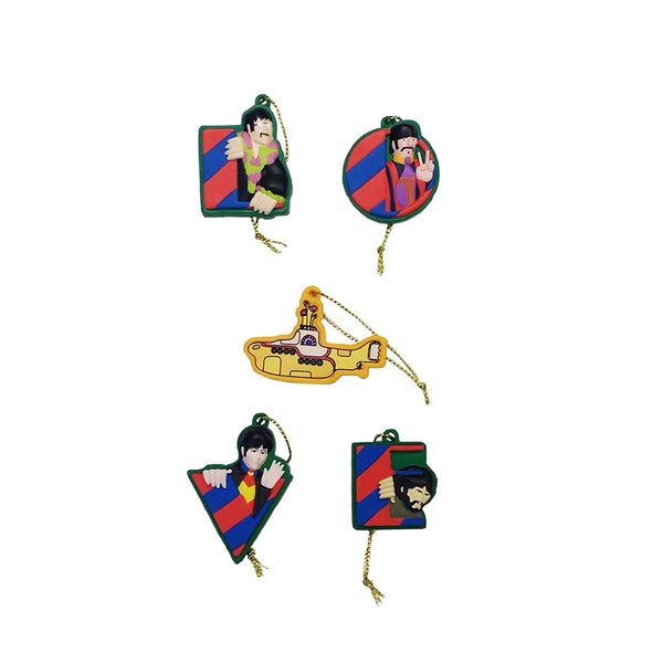 Kurt Adler Beatles/Yellow Submarine 5-Pack Mini Ornament Set