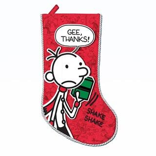 "Kurt Adler 19"" Wimpy Kid Printed Applique Stocking"