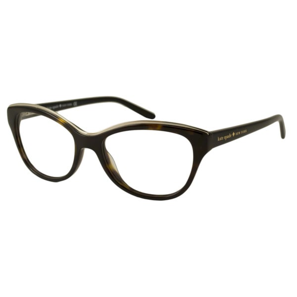 Kate Spade Women's Aida Havana Rectangular Optical Frames
