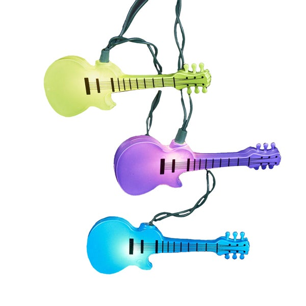 Kurt Adler UL 10-Light Injection Mold Guitar Light Set