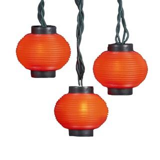 Kurt Adler UL 10-Light Red Lantern Light Set