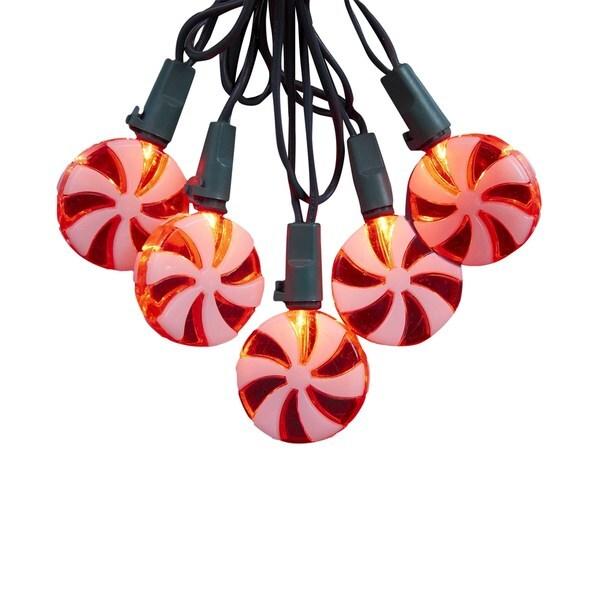 Kurt Adler 20-Light Red Candy LED Light Set
