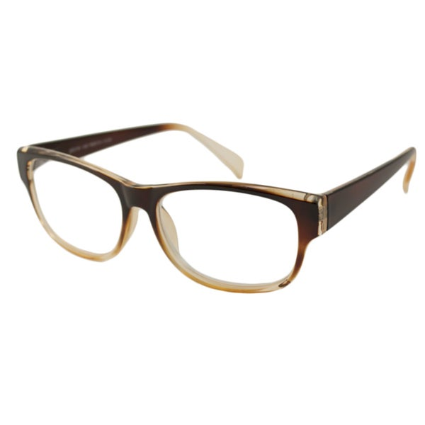 Urban Eyes Men's/Unisex UE99114 Brown Fade Rectangular Reading Glasses (As Is Item)