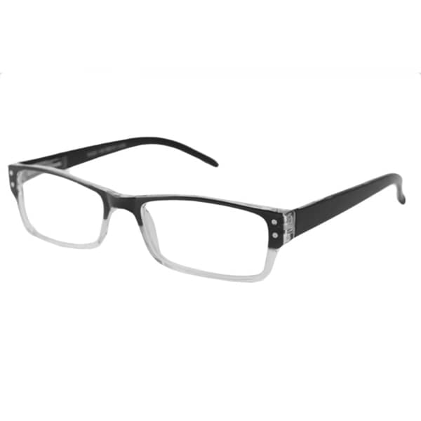 Urban Eyes Men's/Unisex UE99115 Black Fade Rectangular Reading Glasses