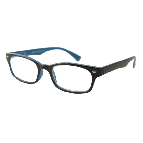 Urban Eyes Men's/Unisex UE99126 Black/ Blue Rectangular Reading Glasses