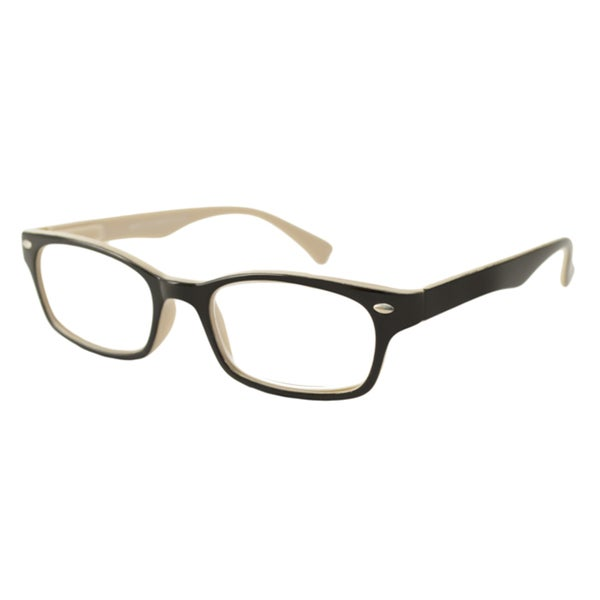 Urban Eyes Men's/Unisex UE99126 Black/ Khaki Rectangular Reading Glasses