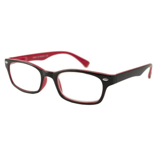 Urban Eyes Men's/Unisex UE99126 Black/ Red Rectangular Reading Glasses