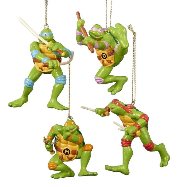 Kurt Adler 2.5-Inch - 3.5-Inch Teenage Mutant Ninja Turtles Ornament Set of 4
