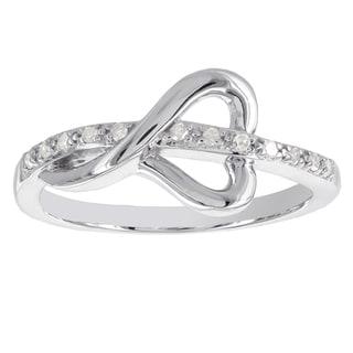 H Star Sterling Silver 1/10ct TDW Diamond Heart Promise Ring (I-J, I2-I3)